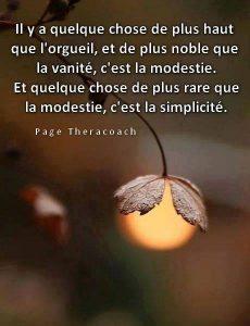 Orgueil, Vanité, Modestie....