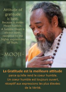 La Gratitude Est la Meilleure Attitude