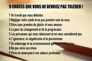 9 Choses Que Vous Ne Devriez Pas Tolérer