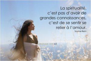 La Spiritualité n'Est pas d'Avoir de Grandes Connaissances