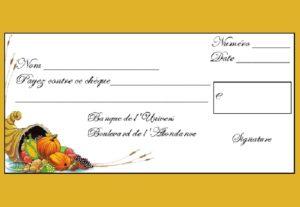 Le Chèque d'Abondance du 15 Février