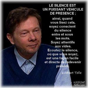 Le Silence Est Un Puissant Véhicule de Présence