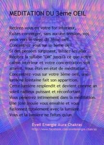 Méditation du 3ème Oeil