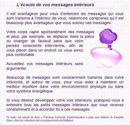 L'Ecoute de Vos Messages Intérieurs