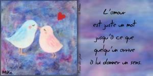 L'Amour, Un Mot...