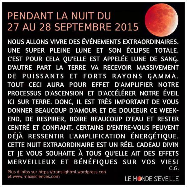 La Nuit du 27 Au 28 Sept 2015