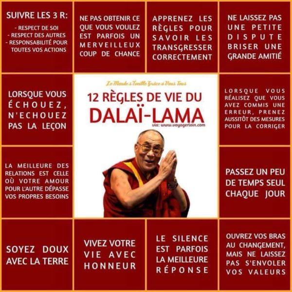 12 Règles de Vie du Dalaï Lama