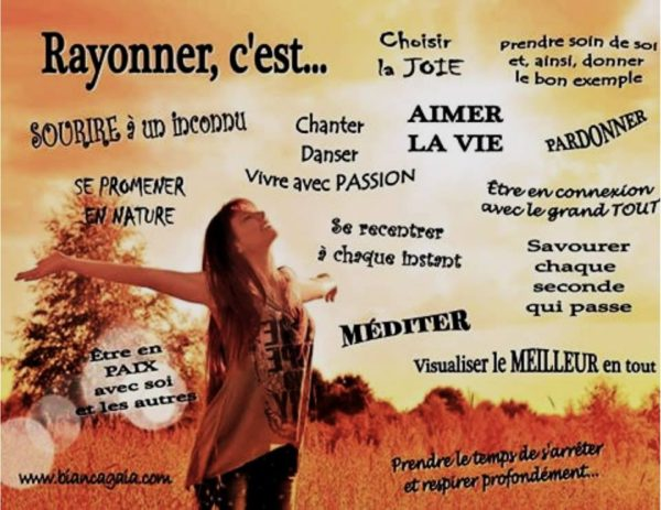 Rayonner, C'Est...