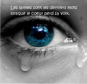 Les Larmes Sont Les Derniers Mots....