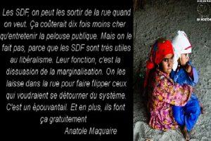 Les SDF Sont Très Utiles au Libéralisme