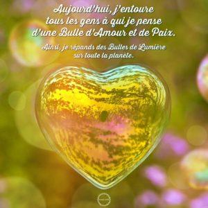 Des Bulles d'Amour et de Paix