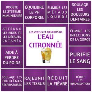 L'Eau Citronnée, Ses Vertus