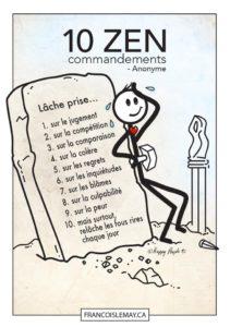 Les 10 Commandements Zen
