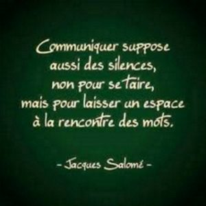 Communiquer Suppose Aussi Des Silences