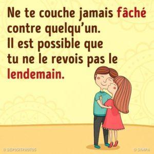 Ne Te Couche Jamais Fâché....