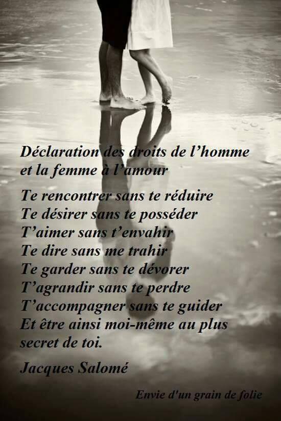 Déclaration Des Droits De Lhomme Et La Femme à Lamour