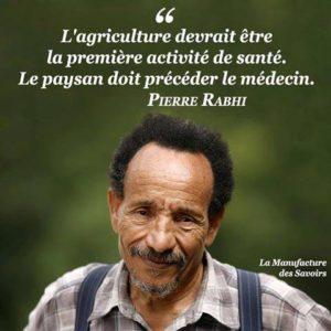 L'Agriculture Devrait Être la Première Activité de Santé