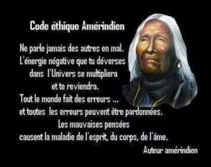 Code Ethique Amérindien