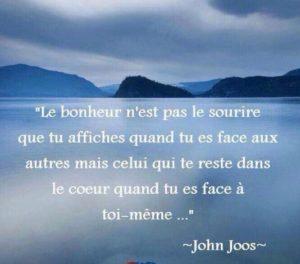 Le Bonheur n'Est Pas Le Sourire...