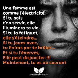 Une Femme Est Comme l'Electricité