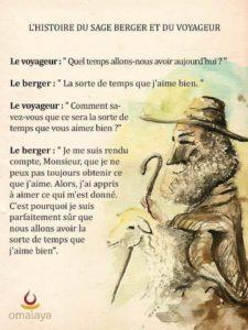 Le Sage Berger et Le Voyageur