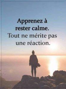 Apprenez À Rester Calme