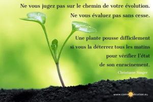 Ne Vous Jugez Pas Sur Le Chemin de Votre Evolution