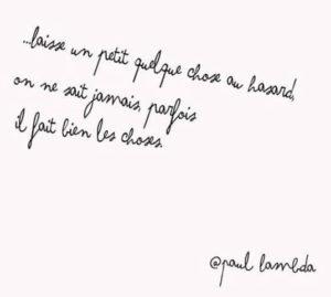 Un Petit Quelque Chose Au Hasard...