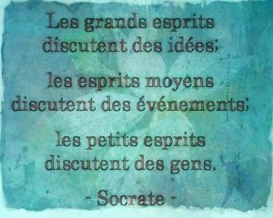 Les Grands Esprits...