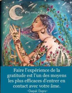 Faire l'Expérience De La Gratitude