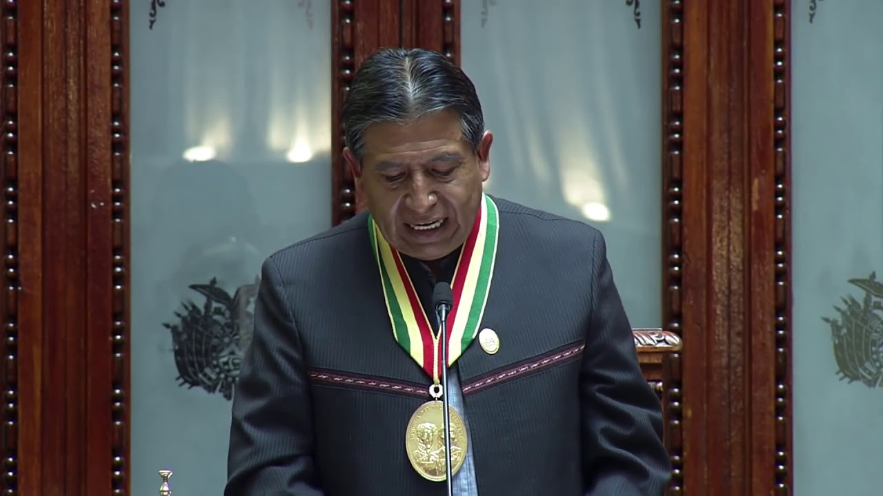Discours d'Investiture du Vice-Président de Bolivie