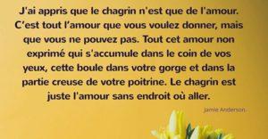 J'Ai Appris Que Le Chagrin...