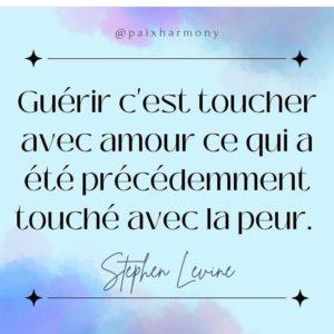 Guérir C'Est Toucher Avec Amour